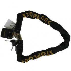 Stoplock Motorrad-Schloss - 120cm - Profi-Diebstahlschutz mit 10mm Vierkant-Kette aus Stahl